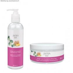 Aroma Therapy Set mit Ingwer & Eukalyptus Körpermassagecreme + Körperpeeling